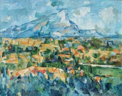 Paul Cézanne, La Montagne Sainte-Victoire, vue des Lauvres.jpg