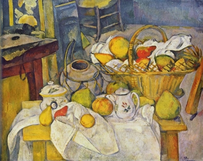 Paul Cézanne, Nature morte au panier de fruits.jpg